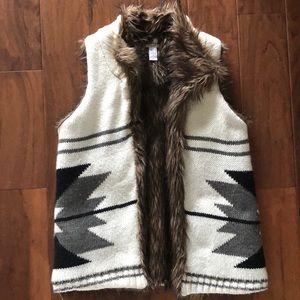 BAR III knit/faux fur vest